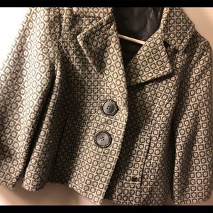 DKNY cropped jacket gray, lined, great condition